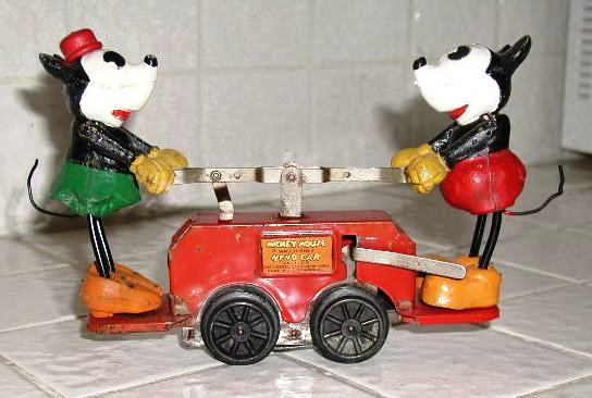 Mickey Mouse handcar