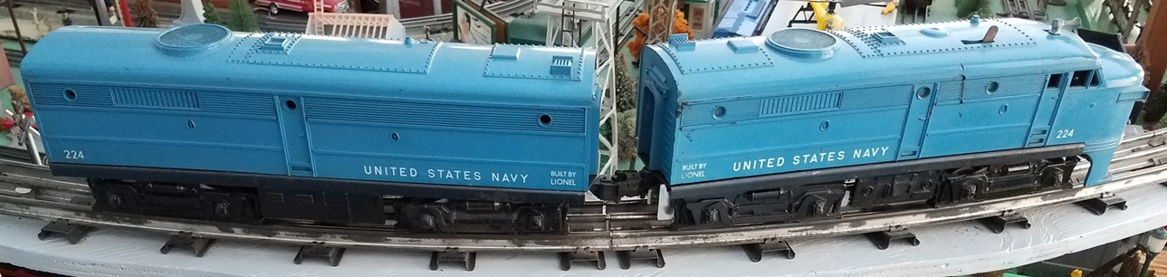 Lionel Postwar 224 United States Navy Alco AB units