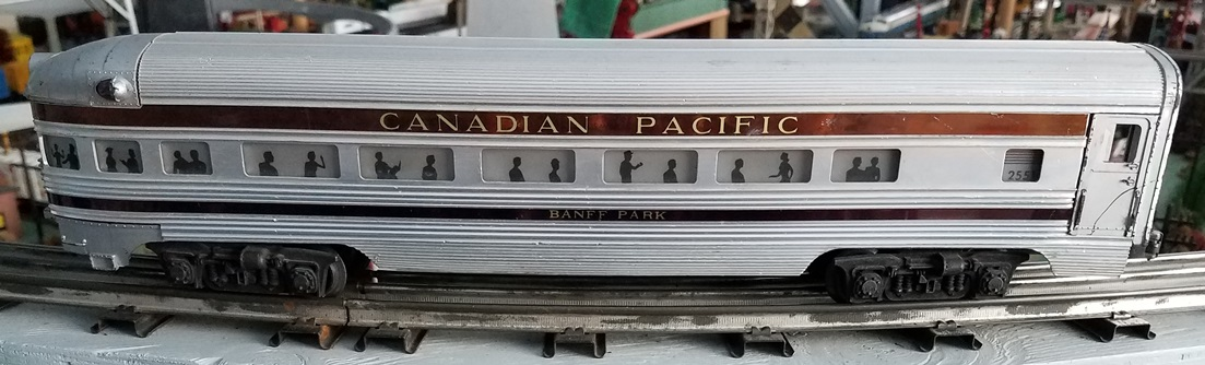 Lionel Postwar 2551 Canadian Pacific Banff Park observation car