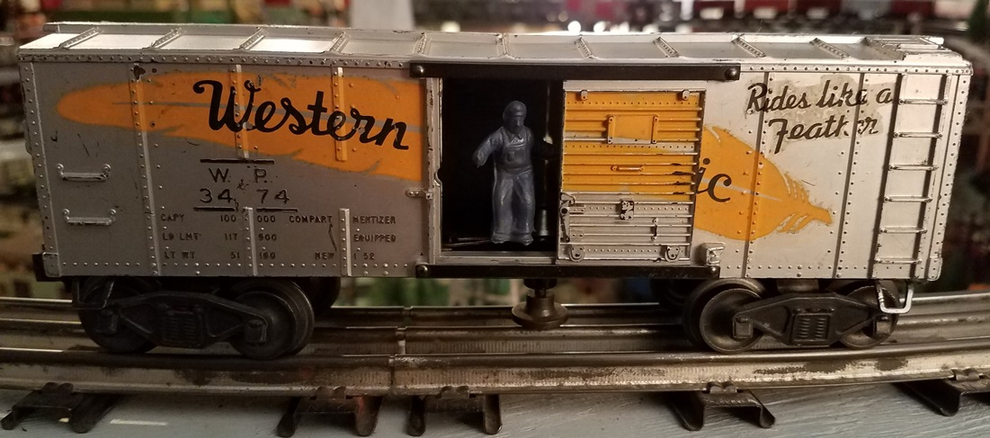 Lionel Postwar 3474 Western Pacific operating boxcar
