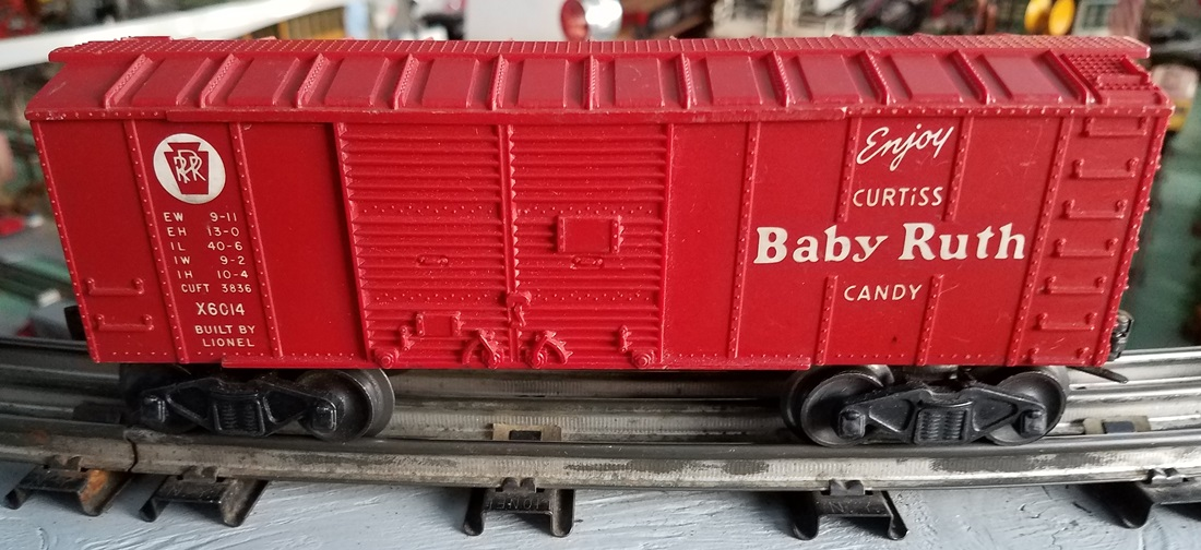 Lionel Postwar X6014 Baby Ruth red boxcar