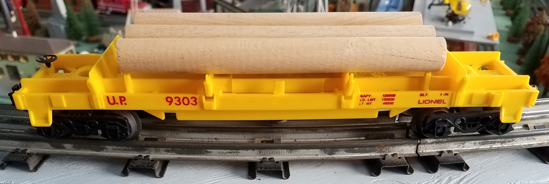 Lionel MPC Union Pacific 9303 Log Dump Car