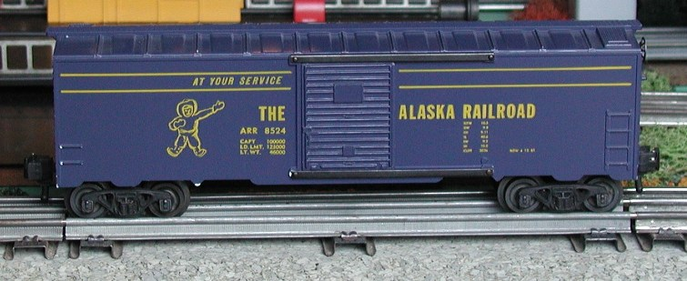 Kris Alaska Railroad dark blue boxcar, panel doors