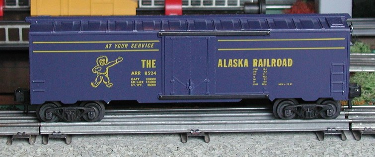 Kris Alaska Railroad dark blue boxcar, plug doors