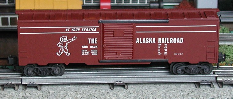 Kris Alaska Railroad boxcar red, panel doors
