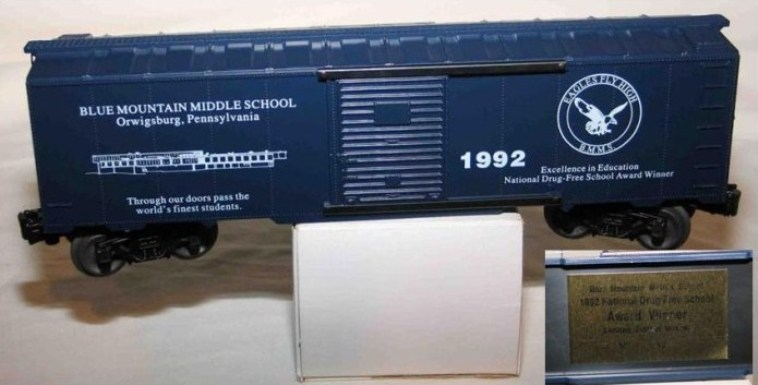 Blue Mountain Middle School boxcar