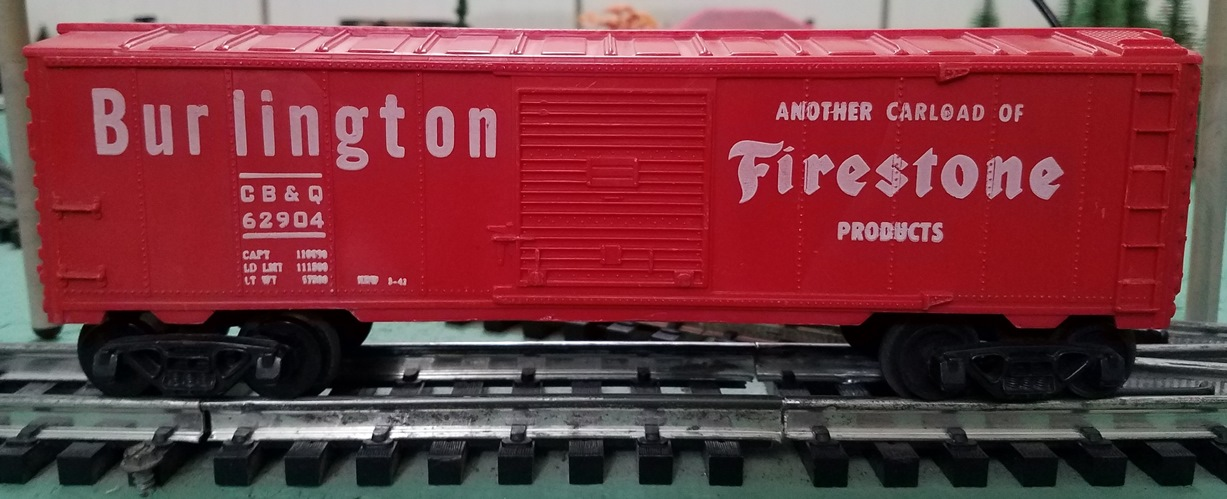 Burlington Firestone boxcar