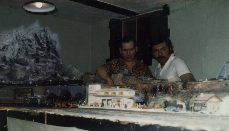 Uncle Frank and Uncle Paul studying the layout