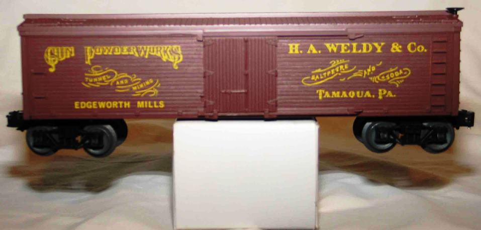Frank's Roundhouse H.A. Weldy yellow lettering refrigerator car