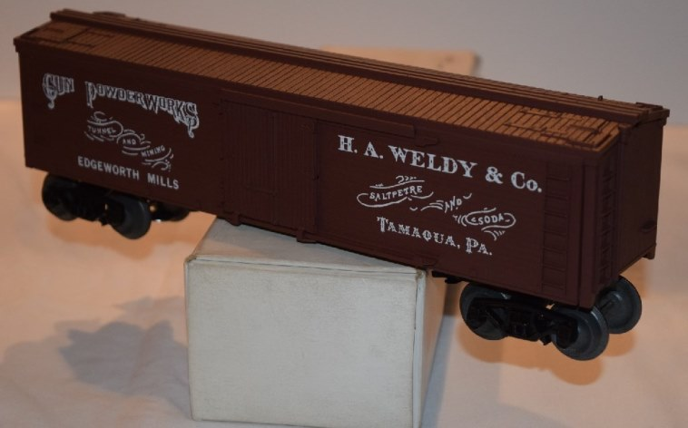 Frank's Roundhouse H.A. Weldy white lettering refrigerator car