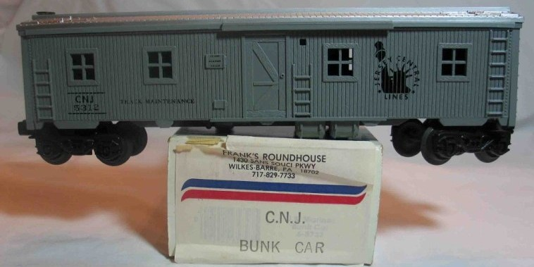 Frank's Roundhouse Jersey Central Bunk Car