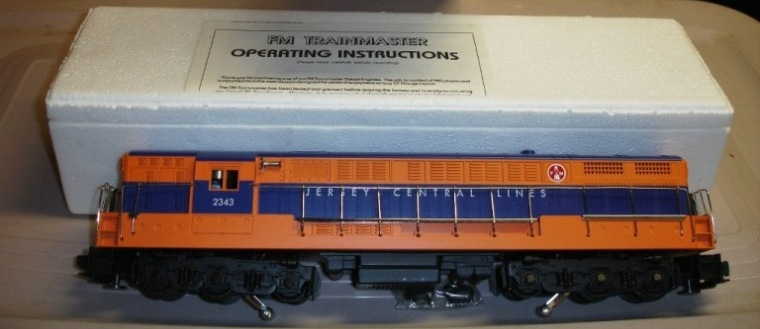 Jersey Central blue and orange FM Trainmaster