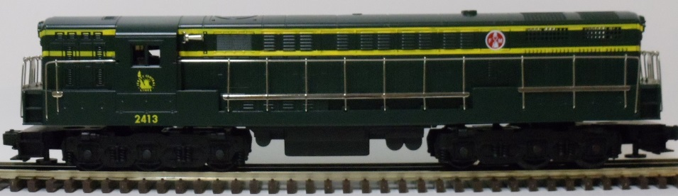 Jersey Central green FM Trainmaster