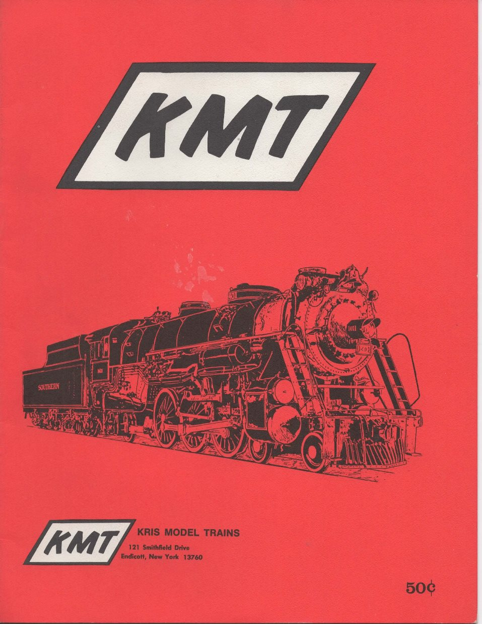 Kris Model Trains 1969 catalog front cover