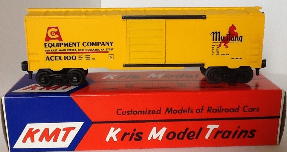 Kris A&C Equipment Company yellow boxcar