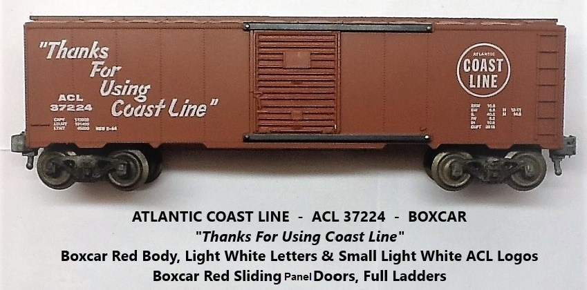 Kris Atlantic Coast Line 37224 boxcar red boxcar with panel doors