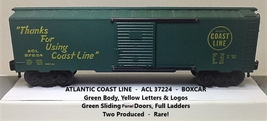 Kris Atlantic Coast Line 37224 green boxcar with green panel doors