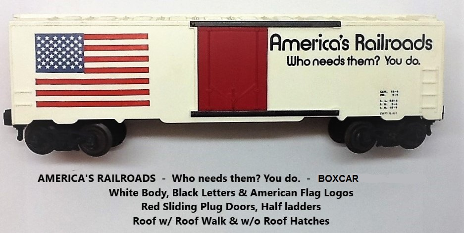 Kris America's Railroads white boxcar with black lettering and red plug doors