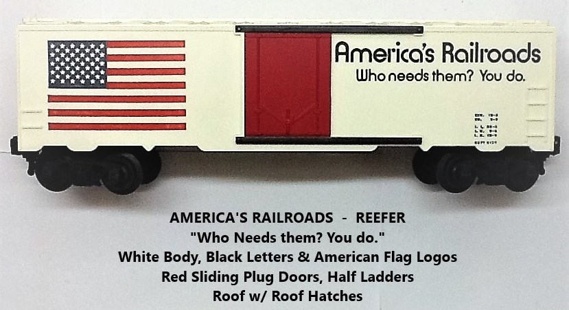 Kris America's Railroads white refrigerator car with red plug doors