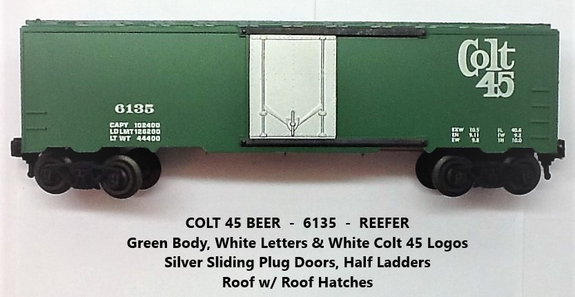 Kris Colt 45 malt liquor 6135 refrigerator car with silver plug doors