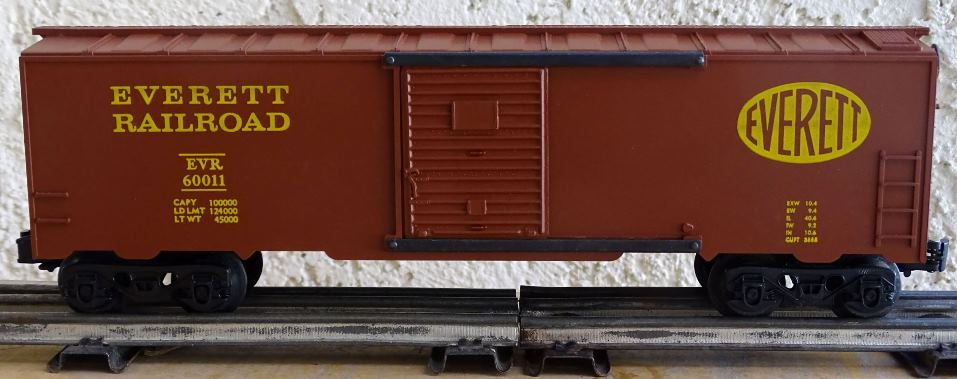 Kris Everett Railroad boxcar red boxcar with panel doors