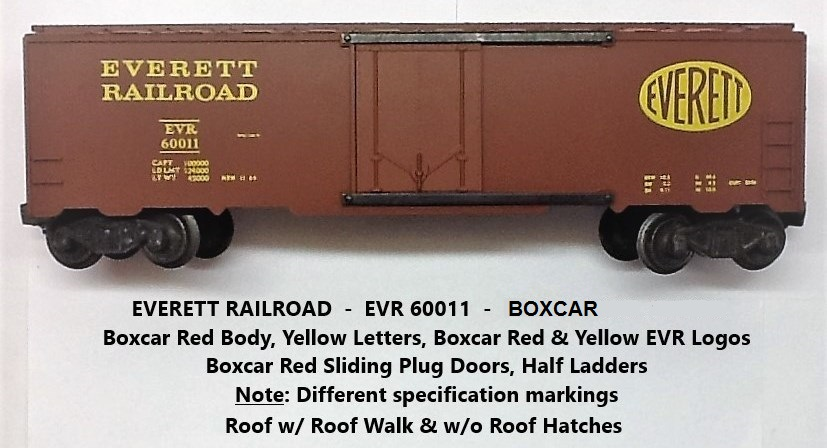 Kris Everett Railroad boxcar red boxcar with plug doors