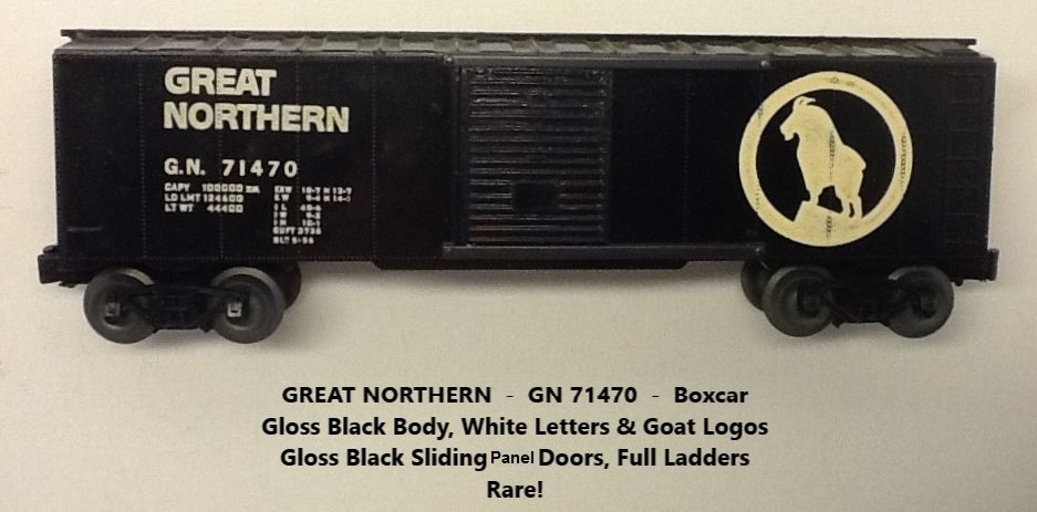 Kris Great Northern gloss 71470 gloss black boxcar