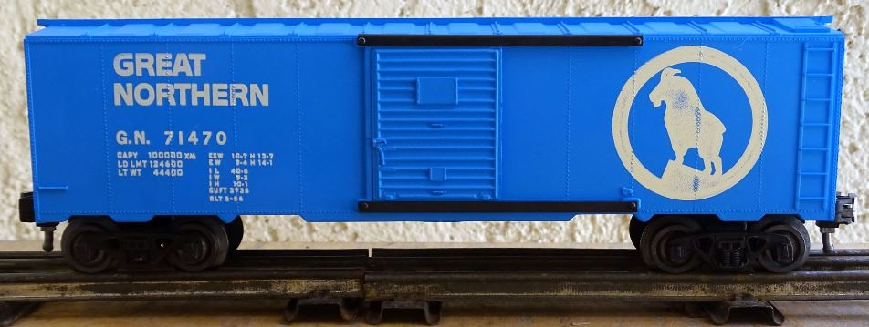 Kris Great Northern 71470 flat finish blue boxcar