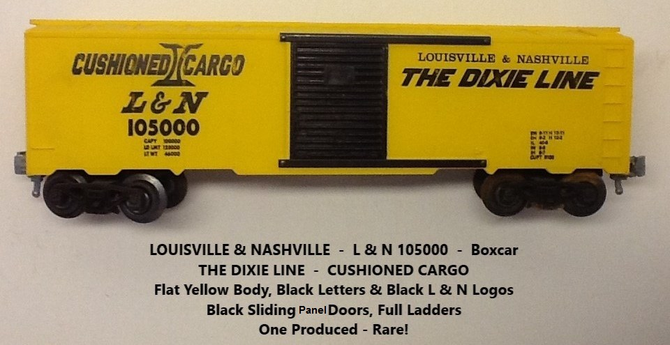 Kris Louisville and Nashville 105000 yellow boxcar