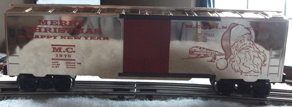Kris 1978 gold holiday boxcar with red doors