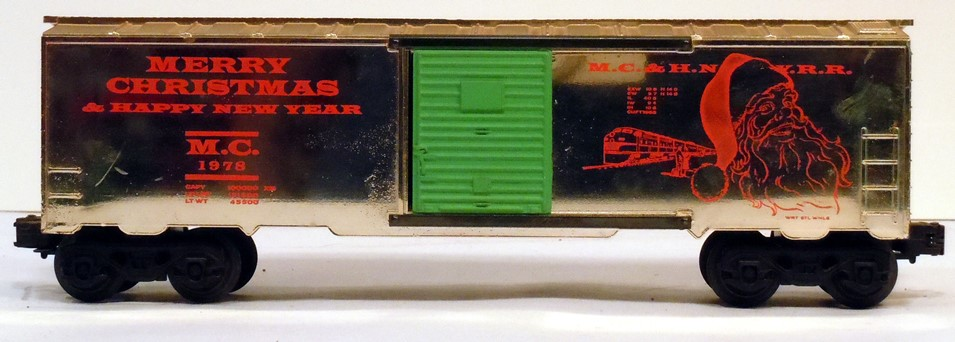 Kris 1978 gold holiday boxcar with green doors