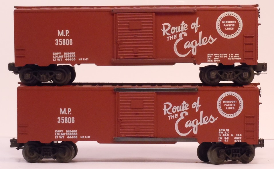 Kris Missouri Pacific 35806 boxcar comparison