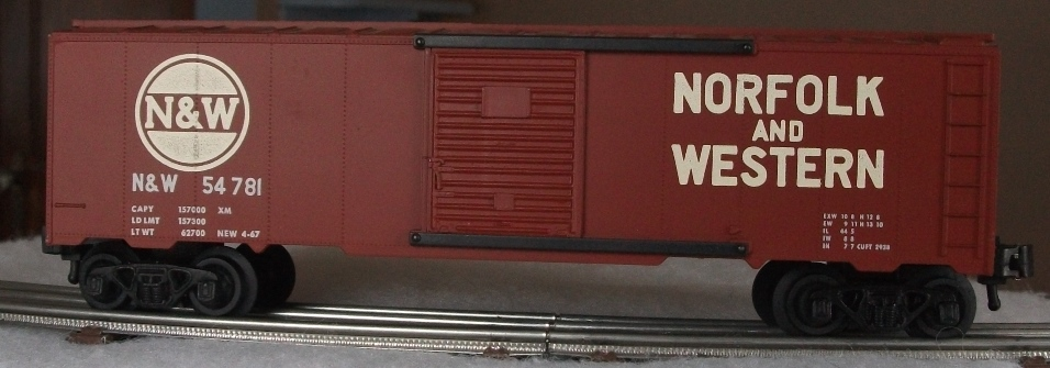 Kris Norfolk and Western 54781 tuscan boxcar