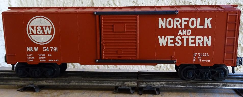 Kris Norfolk and Western 54781 boxcar red boxcar