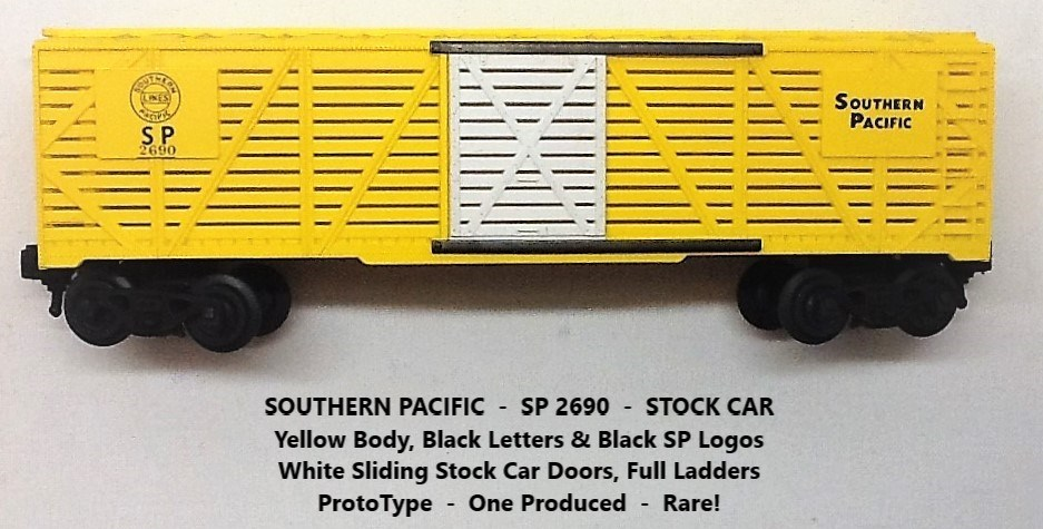 Kris Southern Pacific 2690 yellow prototype stock car