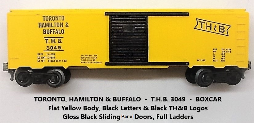 Kris Toronto, Hamilton and Buffalo flat yellow boxcar