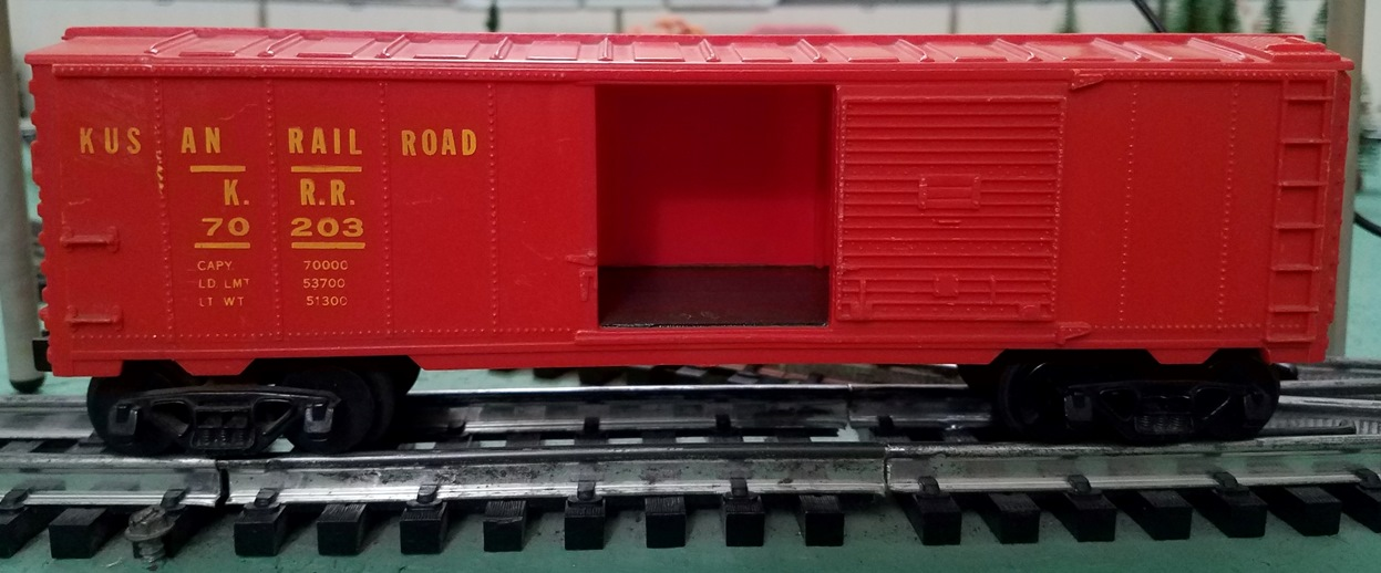 Kusan Railroad red boxcar