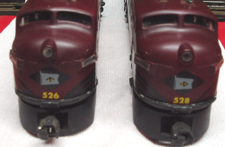 Lehigh Valley F-3 cabs front view