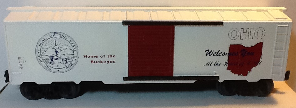 State of Ohio boxcar