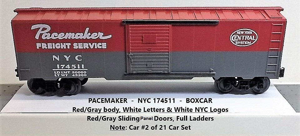 New York Central Pacemaker 174511 boxcar