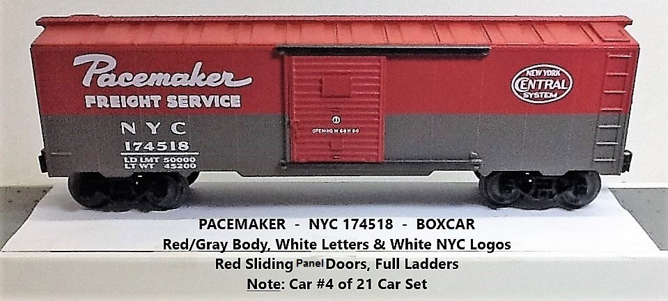 New York Central Pacemaker 174518 boxcar