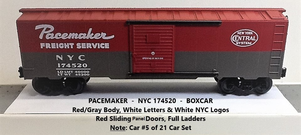 New York Central Pacemaker 174520 boxcar