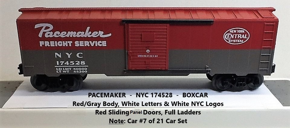 New York Central Pacemaker 174528 boxcar