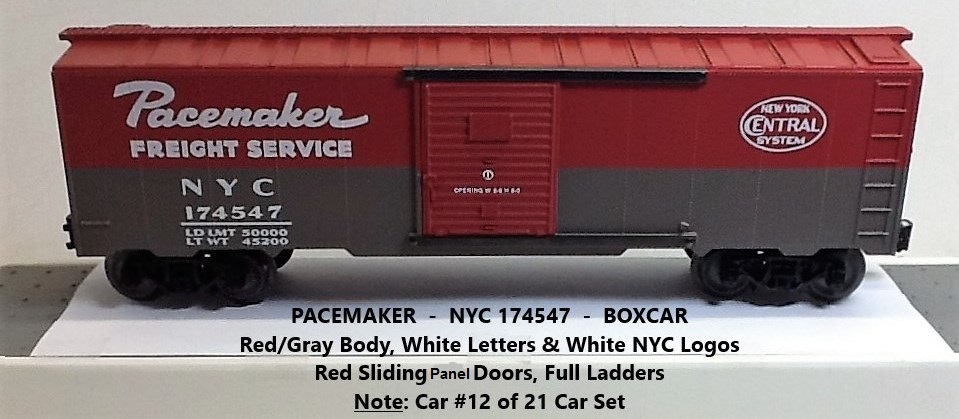 New York Central Pacemaker 174547 boxcar