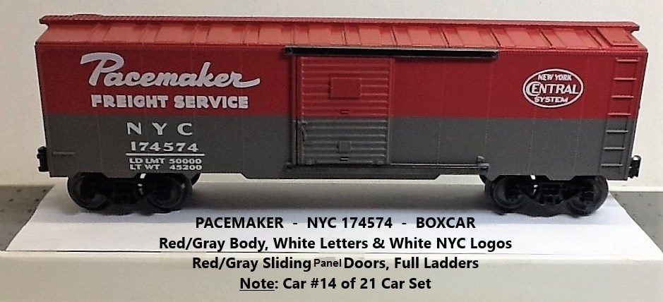 New York Central Pacemaker 174574 boxcar