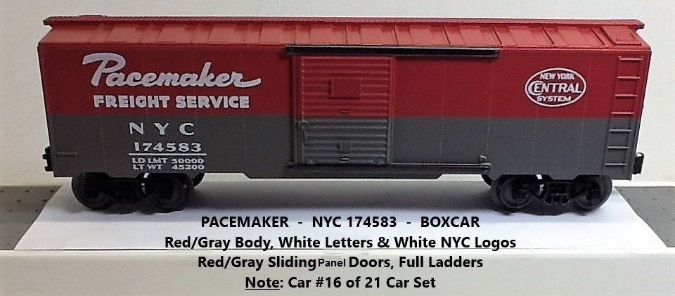 New York Central Pacemaker 174583 boxcar
