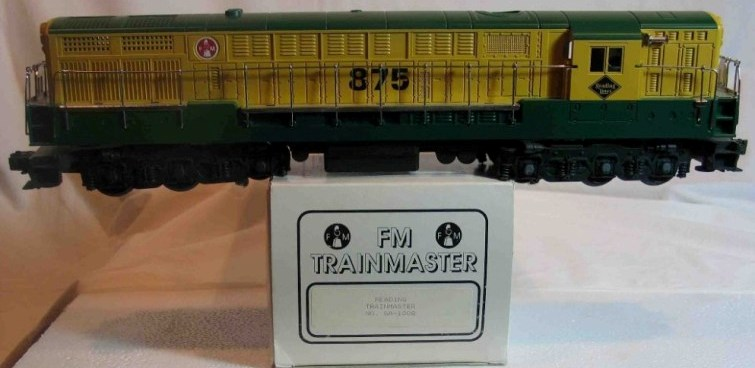 Reading green and yellow FM Trainmaster
