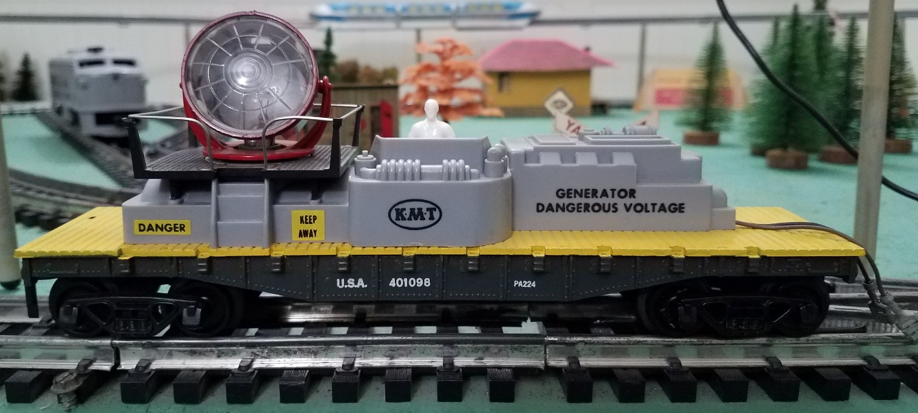 Satellite Train searchlight car