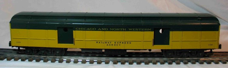 Chicago and North Western 100 baggage car