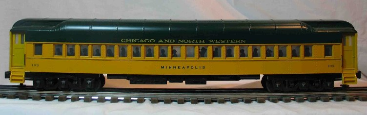 Chicago and North Western 103 coach car